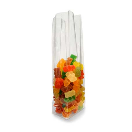 Pack 100 bolsas celofan transparente con fuelle y base - Papel de regalo transparente ...
